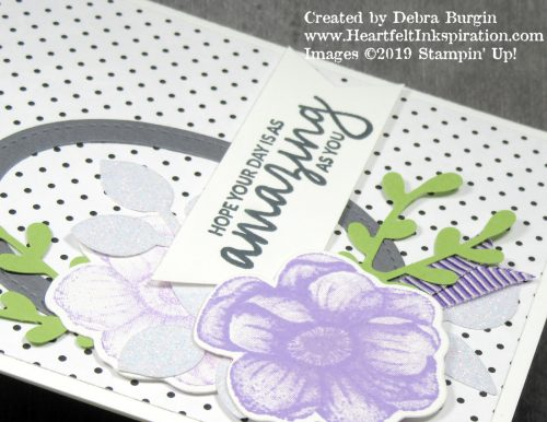 Painted Seasons | Another 2019 March camp card.  This one uses the Botanical Butterfly Designer Series Paper, also from Sale-A-Bration.  Please click to read more! | Stampin' Up! | HeartfeltInkspiration.com | Debra Burgin