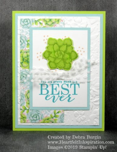 Painted Seasons | All Adorned | A perfect, springy card for this last day of March!  Please click to read more! | Stampin' Up! | HeartfeltInkspiration.com | Debra Burgin