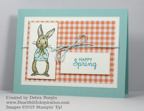 Fable Friends | I couldn't resist this cutie for a happy spring card.  Happy to see him in the Stampin' Up! 2019-2020 Annual Catalog!  Please click to read more! | Stampin' Up! | HeartfeltInkspiration.com | Debra Burgin