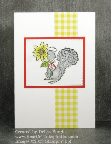 Fable Friends | I love this squirrel dressed as a sailor from the 2019 Occasions Catalog.  Please click to read more! | Stampin' Up! | HeartfeltInkspiration.com | Debra Burgin
